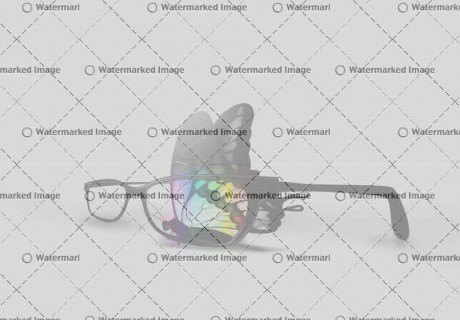 Butterfly and Eyeglasses